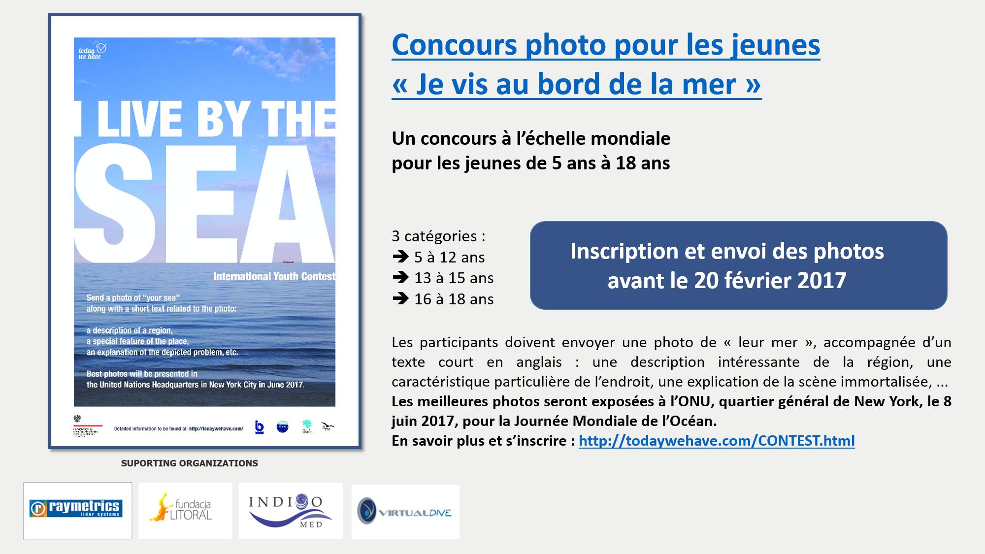 Concours photo pour les jeunes jusqu'au 20 février 2017